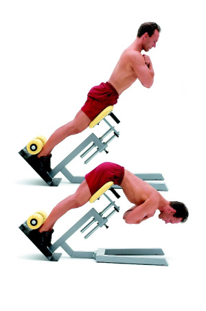 bodyweight exercises: hyperextensions