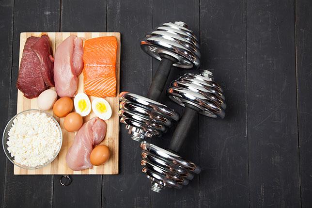 Proteinreiche Ernährung(Quelle: Shutterstock/Kutsenko Denis)