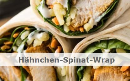 Fitnessrezept Hähnchen-Spinat-Wrap
