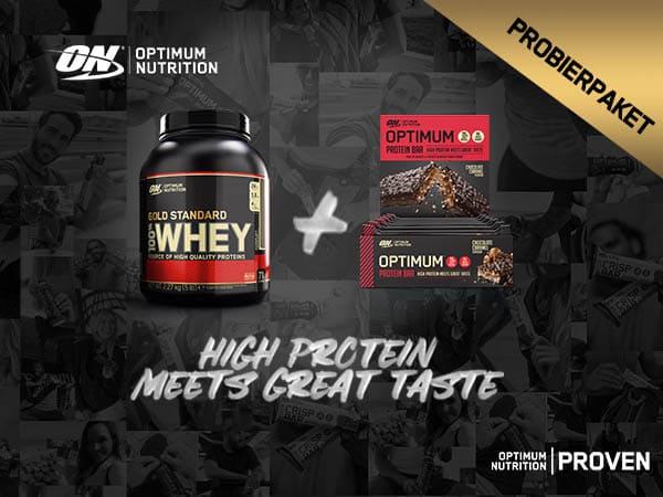 Optimum Nutrition 100% Whey Gold Standard Protein Bar Paket