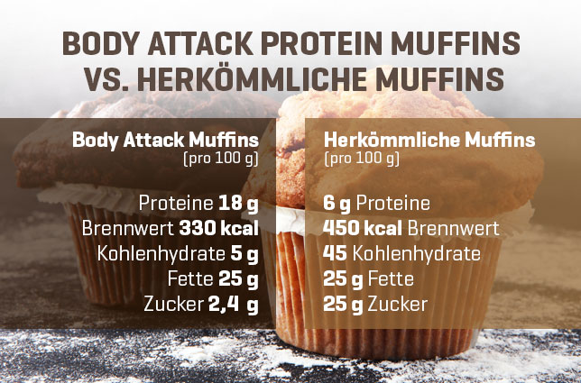 Protein Muffins im Vergleich