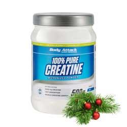 Body Attack schenkt Dir 100% Pure Creatine Powder zu Deinem Einkauf dazu