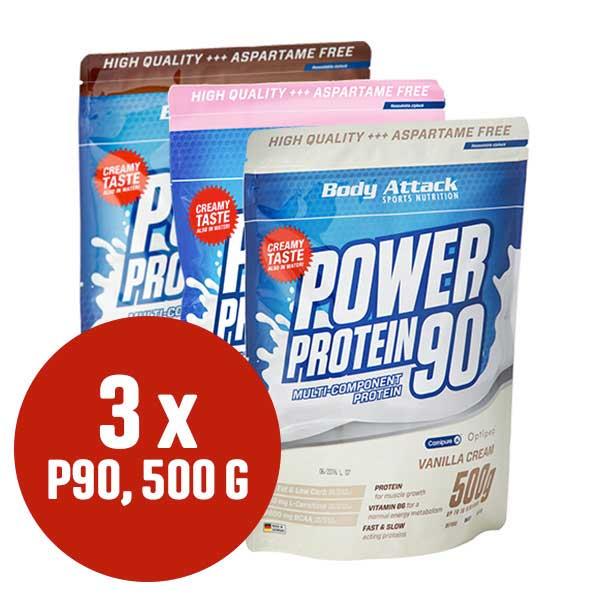 Power Protein 90 im Dreierpack