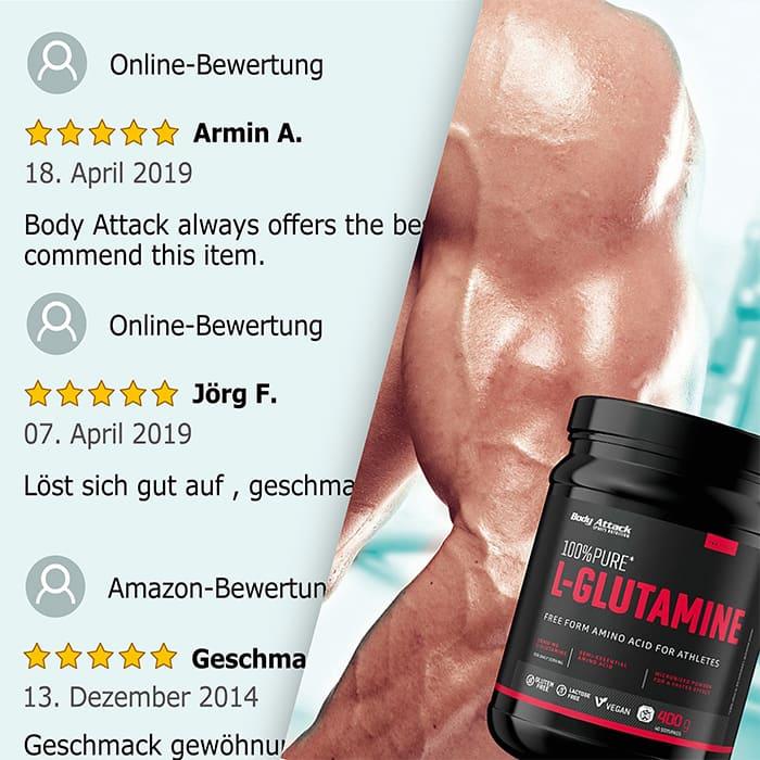 Body Attack 100% Pure L-Glutaminsäure Netzbewertungen