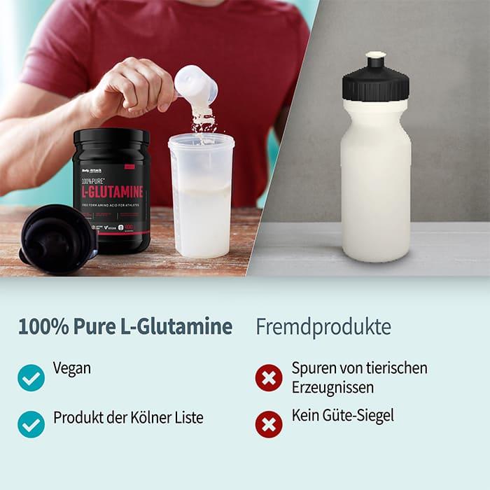 Body Attack 100% Pure L-Glutaminsäure im Vergleich