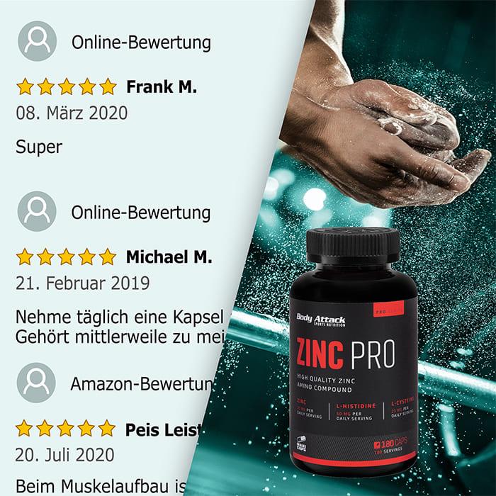 Body Attack Zinc Pro Netzbewertung