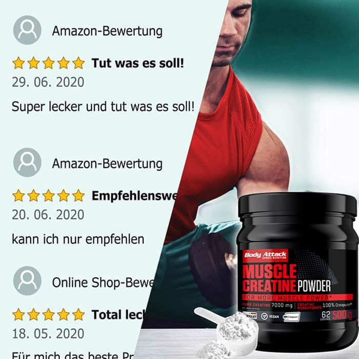 Body Attack Muscle Creatine Netzbewertungen