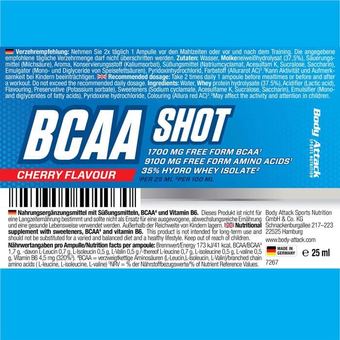 Body Attack BCAA Shot
