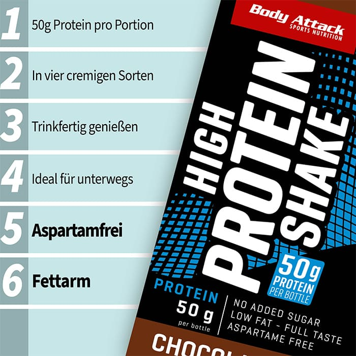 Body Attack High Protein Shake