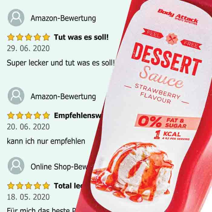 Body Attack Dessert Sauce - Strawberry