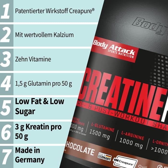 Body Attack Creatine Protein Netzbewertung