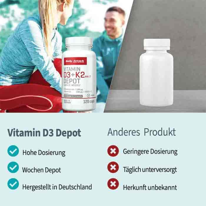 Body Attack Vitamin - D3 + K2 Depot