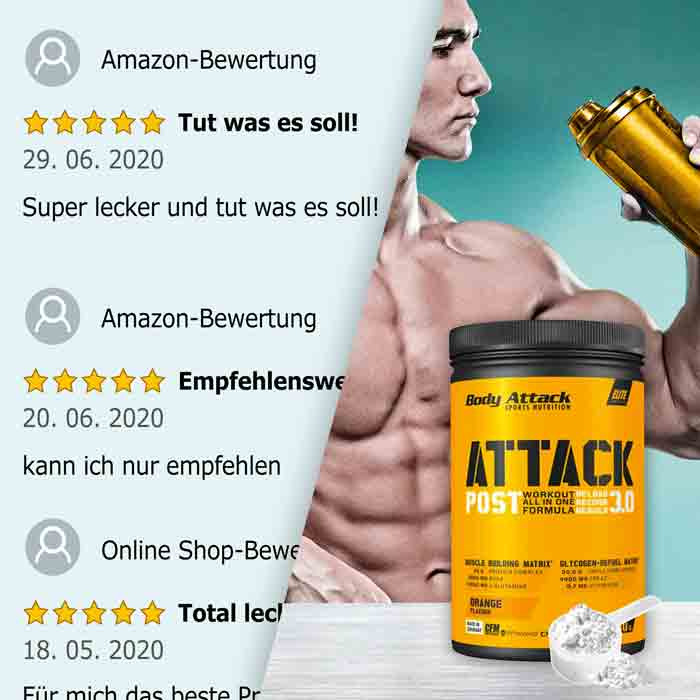 Body Attack Post Attack 3.0 Bewertungen