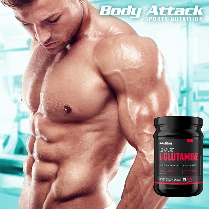 Body Attack 100% чист глутамин
