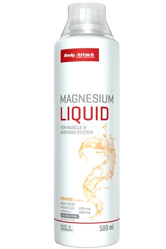 Magnesium Liquid (500 ml) von Body Attack auch in Apotheken erhältlich