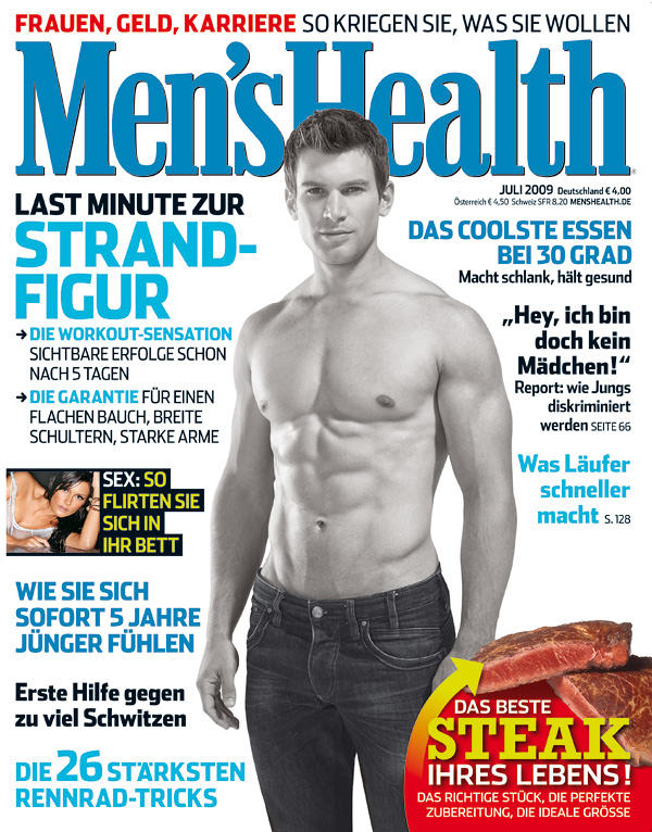 Moritz Tellmann auf dem Cover der Men´s Health
