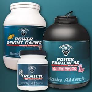 Die drei ersten Body Attack Produkte
