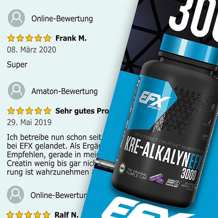 EFX Kre-Alkalyn 3000 Netzbewertungen