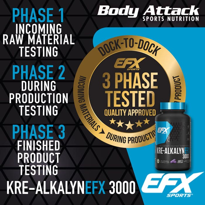 EFX Kre-Alkalyn 3000 3 Phase Tested