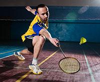 Badminton-Athleten