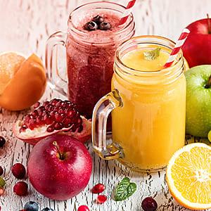 Obst und Fruchtsaft