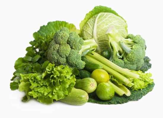 Grünes Gemüse enthält Folsäure (Quelle: Shutterstock/Aprilphoto)