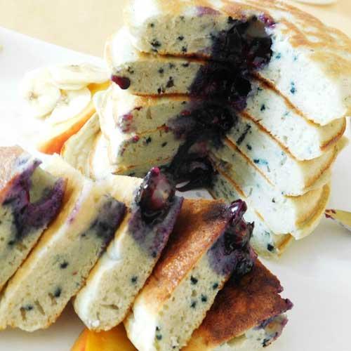 bananen blaubeer pancakes rezept news. Black Bedroom Furniture Sets. Home Design Ideas