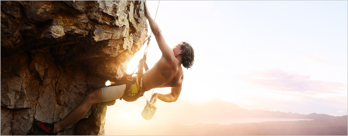 Sportart Klettern