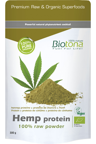 Biotona Hanfprotein 100% Raw Powder - 300g