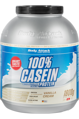 Body Attack 100% Casein Protein - 1,8kg Aktion