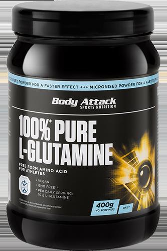 Body Attack 100% Pure L-Glutaminsäure - 400g Restposten