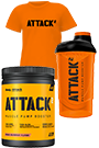 Body Attack ATTACK2 - 600g + ATTACK2 Shaker + ATTACK2 T-Shirt