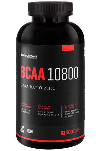 Body Attack BCAA 10800 - 300 Caps