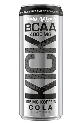 Body Attack BCAA KICK - 330ml Aktion BCAA Kick Cola