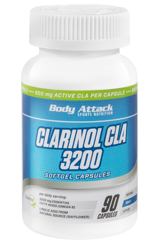 Body Attack Clarinol CLA 3200 - 90 Softgel Caps Restposten