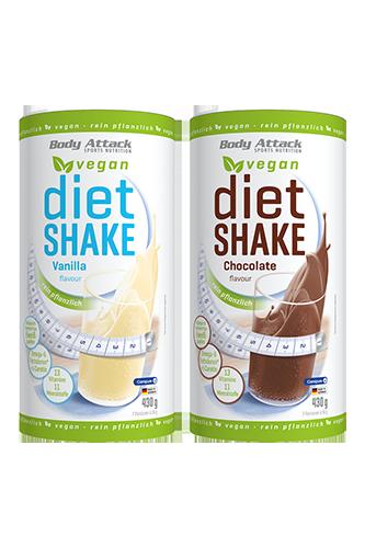 Body Attack Diet Shake Vegan - 430g Restposten