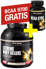 Body Attack Extreme Whey Deluxe 2,3 kg + BCAA 9700 (120er) gratis *AKTIONSPAKET*