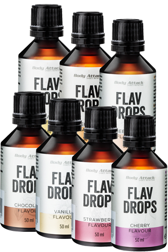 Body Attack Flav Drops Paket - 7er 50ml
