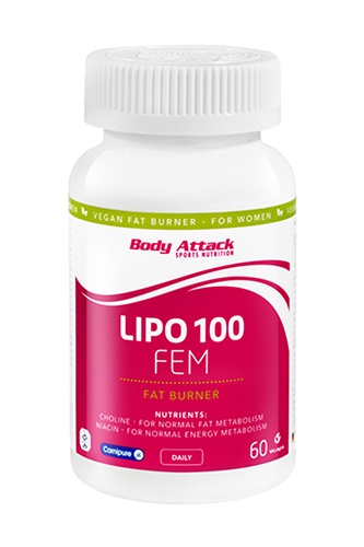Body Attack LIPO 100-FEM - 60 Caps Restposten