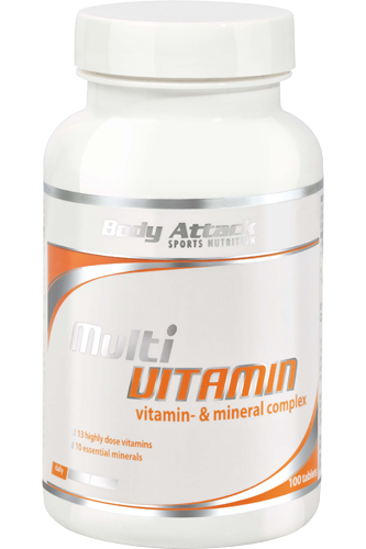 Body Attack Multi Vitamin - 100 Tabs Restposten