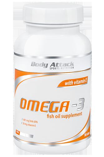 Body Attack Omega 3 - 90 Kapseln Restposten