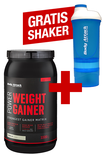 Body Attack Power Weight Gainer 1,5 kg + ShakeOne gratis *AKTIONSPAKET*