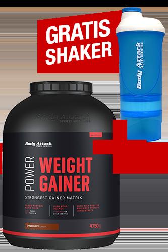 Body Attack Power Weight Gainer 4,75 kg + ShakeOne gratis *AKTIONSPAKET*
