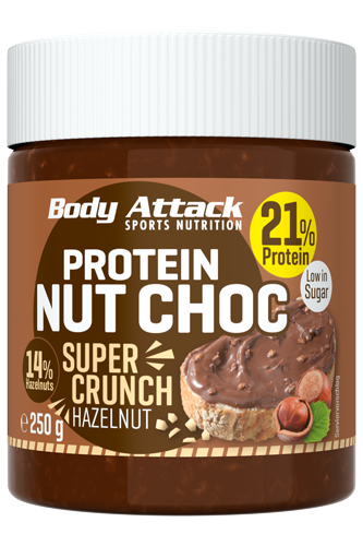 Body Attack Protein Nut Choc - Super Crunch 250g