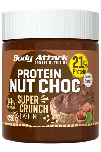 Body Attack Protein Nut Choc - Super Crunch 250g