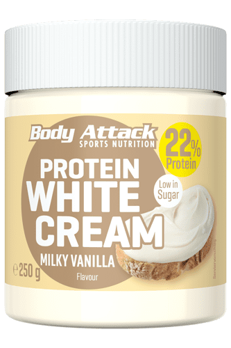 Body Attack Protein White Cream Milky Vanilla - 250g