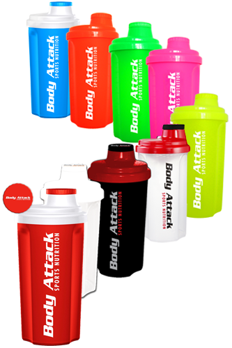 Body Attack Sports Nutrition Protein Shaker 700ml - Restposten