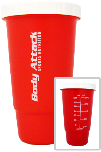 Body Attack Sports Nutrition Shaker Cup 600ml