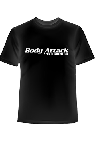 Body Attack Sports Nutrition T-Shirt - black