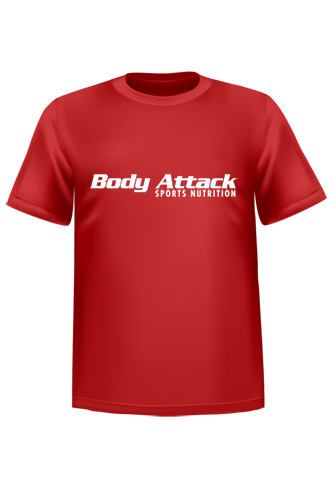 Body Attack Sports Nutrition T-Shirt - red